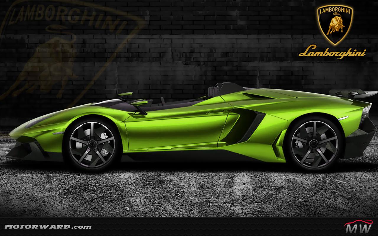 Lamborghini Aventador J Gold And More Motorward