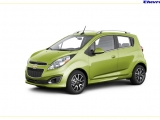The Chevrolet Spark, shown in Jalapeno, goes on sale this summer