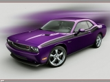 thumbs 2010 dodge challenger rt classic plum crazy front side at Dodge History & Photo Gallery