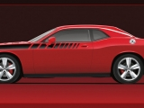 Dodge Challenger with Mopar 20-inch Heritage Wheels and Body Dec