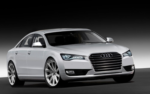 This is the all new 2010 Audi A8. Ingolstadt's answer to the 7-series of