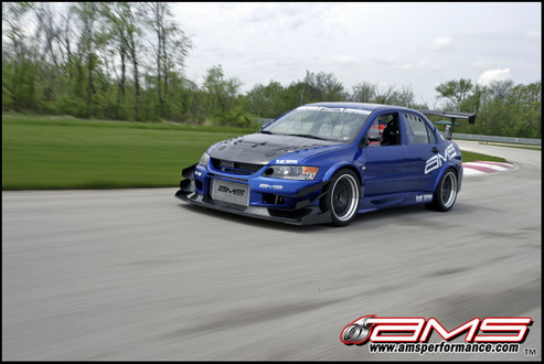 AMS Mitsubishi Evo IX Blue Demon 1 at AMS Performance Mitsubishi Evo Blue Demon