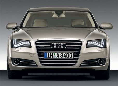 As mentioned, the new A8 gets full LED headlights.
