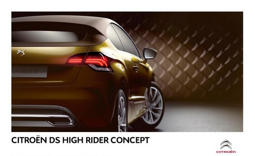 2010 Citroen Ds High Rider Concept. Citroen DS HIGH RIDER Concept