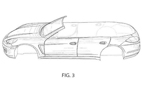 porsche panamera convertible patents leaked