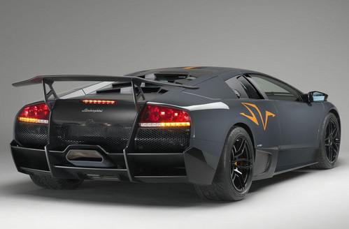 Black Lamborghini Murcielago Rear Side View World