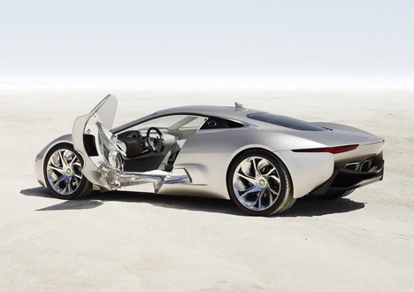Jaguar C X75 6 at Jaguar CX 75 Hybrid Supercar Production Confirmed