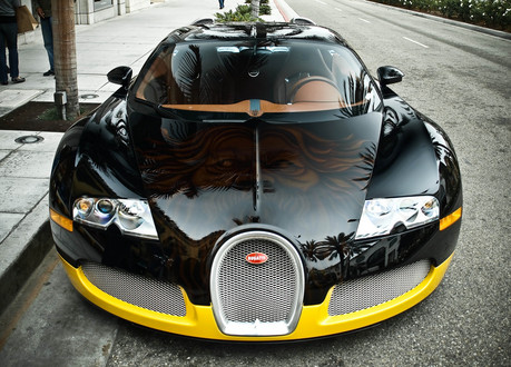 Bijans Black and Yellow Bugatti Veyron Bijan bugatti 1