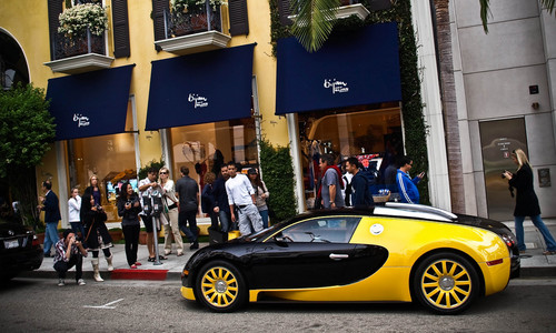 Bijans Black and Yellow Bugatti Veyron Bijan bugatti 3