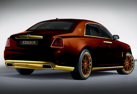 golden rolls royce ghost by fenice milano. Black Bedroom Furniture Sets. Home Design Ideas