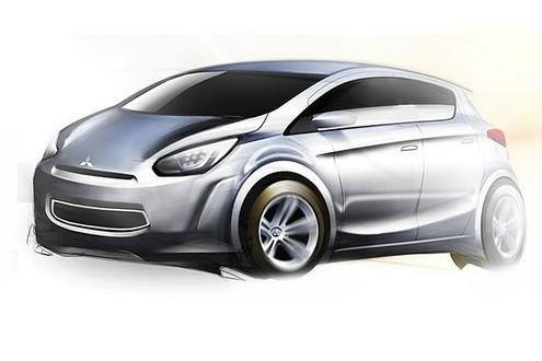 mitusbishi global car 1 at Mitsubishi To Build Global Small Car In Thailand