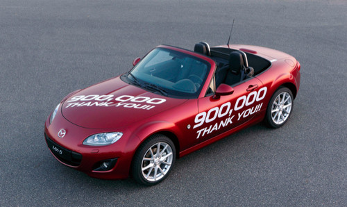 Today, February 4 2011, Mazda MX-5 reaches a remarkable milestone as