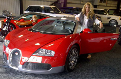 katie price to paint her bugatti veyron pink. Black Bedroom Furniture Sets. Home Design Ideas