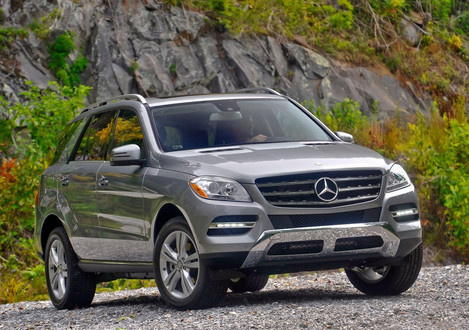 Mercedes ML63, the only V8-powered variant of the new M-Class, will be