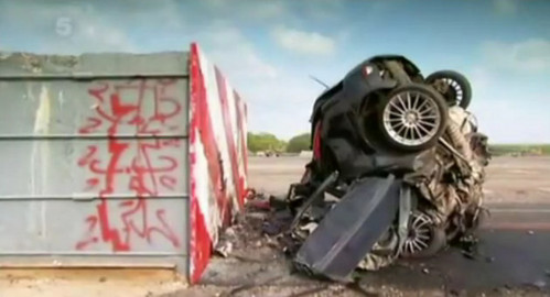 focus crash at Fifth Gear Conducts Fastest Crash Test Ever   Video