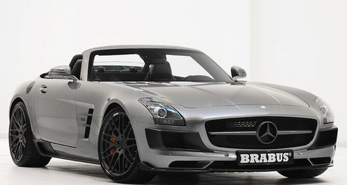 Brabus Mercedes SLS Roadster 1 at 700 hp Brabus Mercedes SLS Roadster Unveiled
