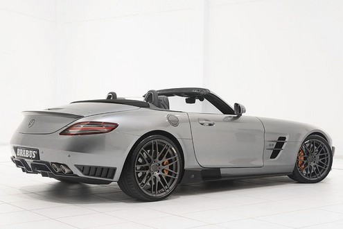 Brabus Mercedes SLS Roadster 2 at 700 hp Brabus Mercedes SLS Roadster Unveiled