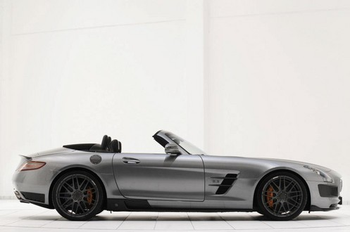 brabus sls r 1 at 700 hp Brabus Mercedes SLS Roadster Unveiled