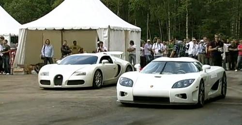 drag race bugatti veyron vs koenigsegg ccxr. Black Bedroom Furniture Sets. Home Design Ideas