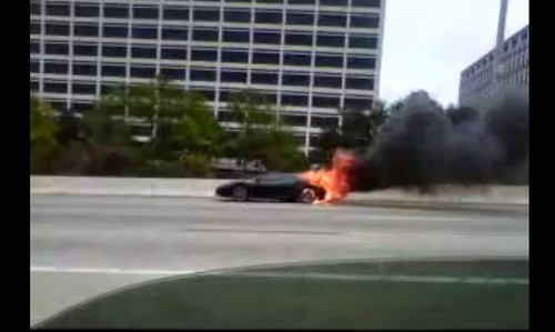 Another Day Another Burning Ferrari