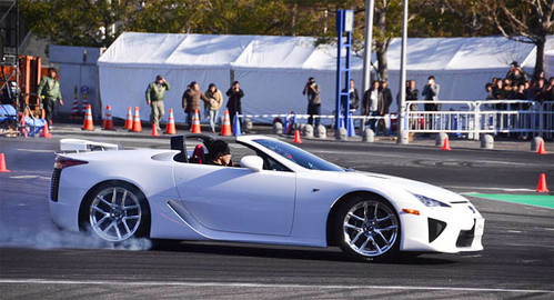 Lexus LFA Roadster 1 at Lexus LFA Roadster Shows Up at Drifitng Event: Video