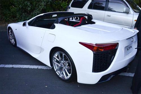 Lexus LFA Roadster 2 at Lexus LFA Roadster Shows Up at Drifitng Event: Video