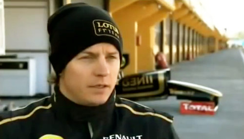 kimi renault f1 test at Kimi Raikkonen First F1 Test In Two Years: Video