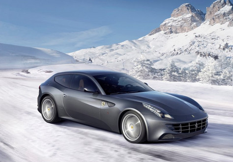 Ferrari FF snow1 at Ferrari FF Hits The Snow, Again: Videos