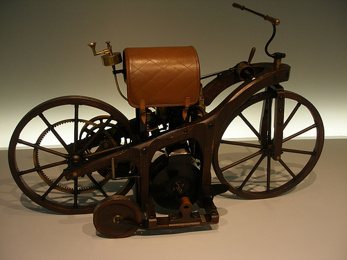 Gottlieb Daimler Motorcycle at History of Mercedes