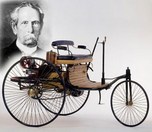 Karl Benz 3 Wheels Car at History of Mercedes
