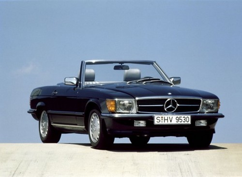 Mercedes Benz SL 350 R107 Roadster at History of Mercedes