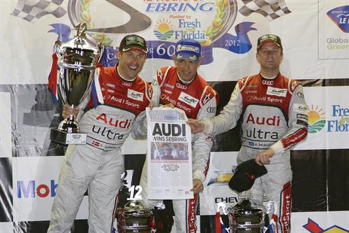 Audi one two 1 at Audi Begins 2012 WEC Season With One Two Victory