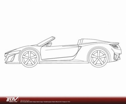 2013 Acura  on Honda Nsx Cabrio Patent 2 At Honda Nsx Cabrio Patent Drawings Surface