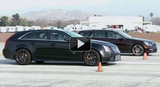 estate drag race Battle of Estates: Cadillac CTS V vs Mercedes E63 AMG