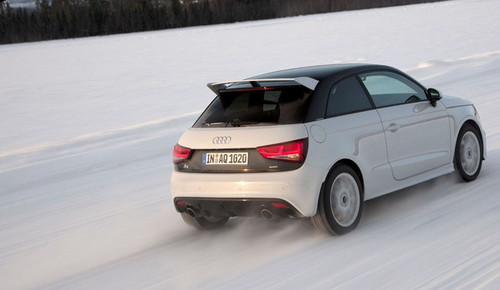 harris a1 ice at Chris Harris Hits The Ice In Audi A1 Quattro