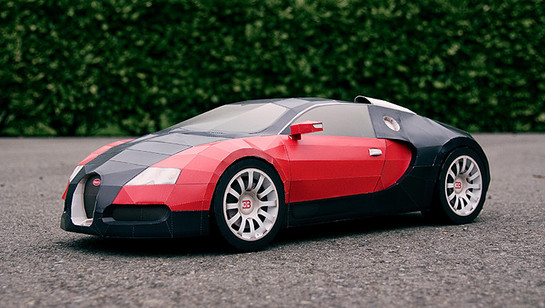 make your own bugatti veyron out of paper. Black Bedroom Furniture Sets. Home Design Ideas