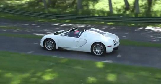 veyron near crash at Scary: Veyron Grand Sport Near Crash