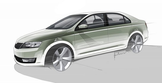 Production Skoda Rapid 1 Production Skoda Rapid Previewed