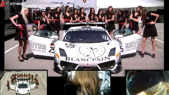 grid girls lambo How Many Grid Girls You Reckon Fit In A Lamborghini?