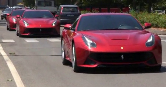 F12 galore Multiple Ferrari F12 Berlinetta's Attack Maranello