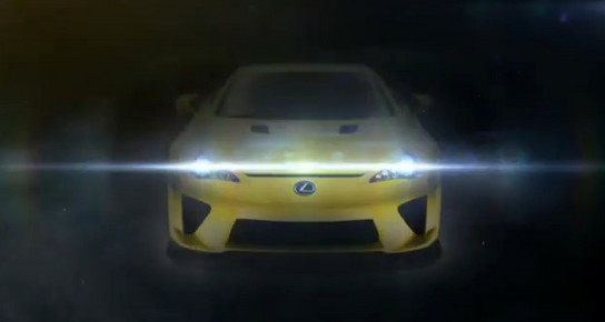 LFA teaser Mysterious Lexus LFA Teased In Video