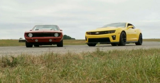 ZL1 vs devil 2 New vs Old: Camaro ZL1 vs Red Devil 69 Camaro