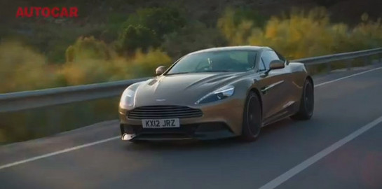 Aston Martin Vanquish Ride Autocars Ride In Aston Martin Vanquish  Video