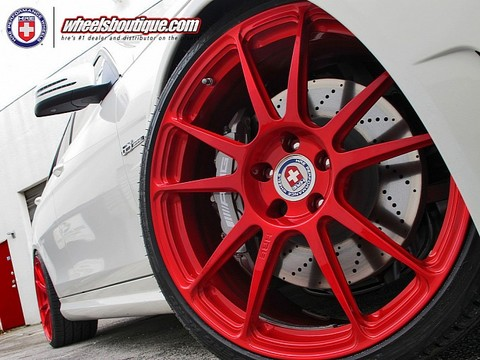 C63 with Red HRE Wheels 4 Mercedes C63 with Red HRE Wheels