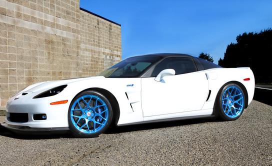 Blue Hre Wheels On Corvette Zr1