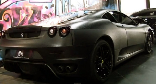 Ferrari F430 leather Full Leather Ferrari F430 Caught on Video