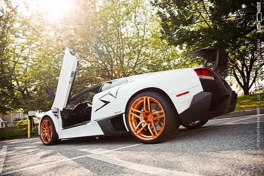 Murcielago LP670 4 PUR Gold 1 Rose Gold PUR Wheels On Lamborghini Murcielago LP670