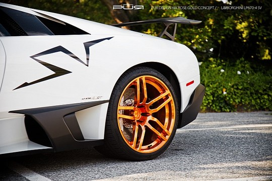 Murcielago LP670 4 PUR Gold 6 Rose Gold PUR Wheels On Lamborghini Murcielago LP670