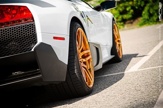 Murcielago LP670 4 PUR Gold 7 Rose Gold PUR Wheels On Lamborghini Murcielago LP670