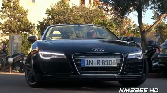 R8 facelift 2013 Audi R8 Facelift Caught On Video